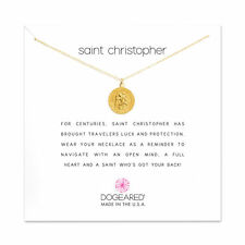 "Dogeared Saint Christopher Travelers Necklace Gold Dipped 16""-18"" Necklace"