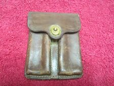 US Post WWII Model 1911 Leather 45 ca Belt Pouch dated 1946
