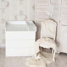 Wickelaufsatz + Trennfach für alle Ikea Malm Kommoden. Neu & OVP. Weiß!