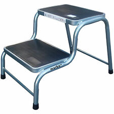 DOUBLE STEP CARAVAN STOOL STEEL RUBBER NON SLIP LIGHTWEIGHT MOTORHOME CAMPER NEW