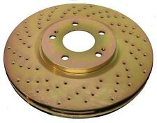 FRONT+REAR Custom Gold Drilled Brake Disc Rotors for G35/350Z w/Brembo TBS8401