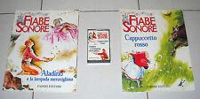 FIABE SONORE 2 fascicoli + MC Cappuccetto Rosso - Aladino e la lampada