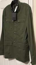 NWT BELSTAFF Men's FADED OLIVE ATWORTH MILITARY FIELD JACKET Size 50, MEDIUM