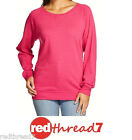 Bonds Womens Hot Pink Sloppy Joe Top Jumper Sweater Pullover Size S Free Post