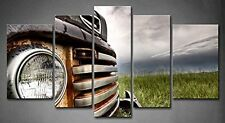 5 Panel Wall Art Old Vintage Truck On The Prairie Painting Pictures Print On Car