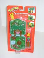 1999 Pokemon Forest Adventure Mini Playset Pikachu #25 Oddish #43 Hasbro Figure