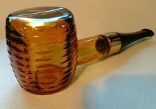 Vintage Avon Corncob Pipe Wild Country After Shave Empty Bottle Decanter Amber