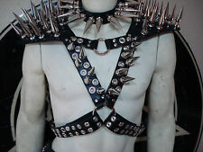 LEATHER GIANT SPIKED HARNESS ARMOR.SPEED METAL (MDLH0089).....SAXON