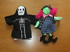 TY CREEPERS and SCARY HALLOWEEN BEANIE BABIES - MINT WITCH SKELETON