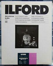 """Ilford Multigrade lV RC """"8 x 10"""" Glossy 100 Sheets"""