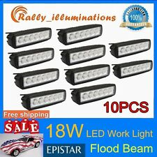 "10X18W 4WD 6"" LED Work Light Bar Flood Beam Off road Driving Fog Lamp Truck ATV"
