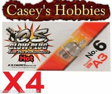 X4 OS O.S Number No 6 A3 HOT Glow Plugs NITRO RC BUGGY Helicopter Boat Car no6