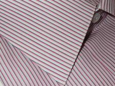 $600 NEW BRIONI WHITE PINK BLACK FINE STRIPE DRESS SHIRT 43 17