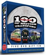 100 YEARS OF BRITISH TRANSPORT - 5 DVD GIFT TIN TROLLEYBUSES SHIPS BUSES TRAINS