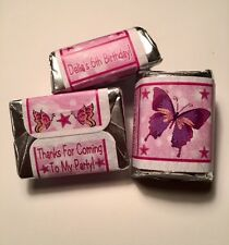 30 Butterflies Birthday Party Or Baby Shower Hershey Nugget Stickers Butterfly