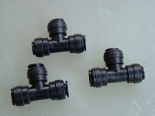 12mm Push fit Tees (Three Pack) Food Grade water fitting.
