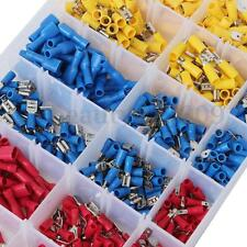 900 Assorted Electrical Car Wire Terminals Insulated Crimp Connectors Spade Ring