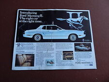 1974 MUSTANG ORIGINAL FORD DEALER SHOWROOM SALES BROCHURE W/ MACH 1 PUNCH OUT 74