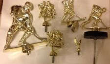 Lot 6 Trophy Topper Gold Colored Plastic Ice Hockey 5 Male 1 Eagle Award