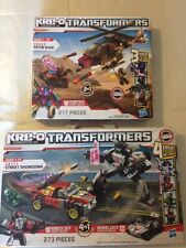 KRE-O TRANSFORMERS Wheeljack Knock Out Street Showdown And Rotor Rage Vortex
