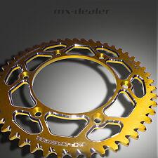 GP-TECH Fabrique Pignon Roue à chaîne jaune Suzuki RM RMZ 125 250 450 48 Dents