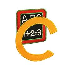 ID 0994A Letter C School Reading Board Grade Embroidered Iron On Applique Patch