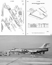F-104 Starfigher Jet Structural Repair Manual 1960's RARE DETAIL technical plans