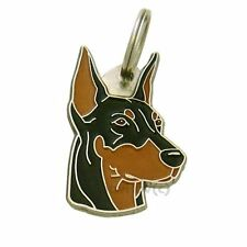 Personalised, Stainless Steel, Pet ID Tag MjavHov, Dobermann