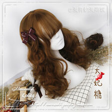 Harujuku Sweet Dolly Lolita Cosplay Brown Long Cute Wig Princess Curly Hair #TY