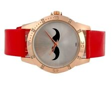 Reloj BIGOTES bigote color ROJO  Moustache Mustache watch red A1518