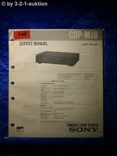 Sony Service Manual CDP M18 CD Player (#0148)