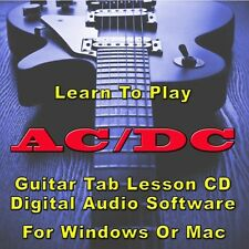 AC/DC Guitar Tab Lesson  CD Software - 154 Songs