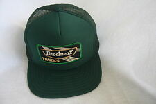 BROCKWAY TRUCKERS HAT WITH EMBROIDERY PATCH ADJUSTABLE SIZING    COLOR GREEN