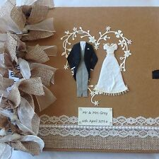 PERSONALISED Wedding Guestbook , SCRAPBOOK, PHOTOGRAPH ALBUM. BRIDE & GROOM ❤️