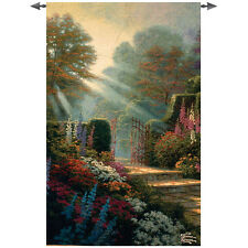 Garden of Grace Grande Tapestry Wall Hanging ~ Artist, Thomas Kinkade