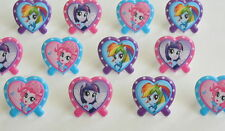 12 My Little Pony Cup Cake Rings Topper Party Goody Loot Bag Filler Favor Supply