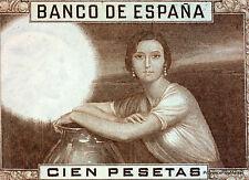 Espagne SPAIN ESPANA Billet 100 pesetas 1953. JULIO ROMERO DE TORRES.  NEUF UNC