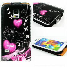 Amazing Phone Holster Leather Skin Case Cover For Samsung Galaxy SV S5 I9600