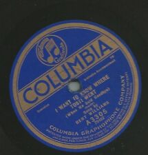 Bert Williams on 78 rpm Columbia A3305: I Want to Know Where Tosti Went /Get Up