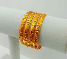4Pc INDIAN FASHION BELLY DANCE SAREE JEWELRY GOLD EN BRACELET BANGLES 2.6 #218