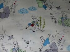 Peter Rabbit Tessuto Fat Quarter Cotone Quilting Craft Beatrix Potter