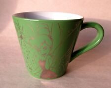 Disney Tinkerbell Tink Mug Silver Gold on Green Disney Store Exclusive