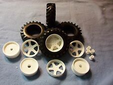 Rubber Tractor Tires-Tall with Wheels and Wheel Backs #1 1/24 1/25 scale