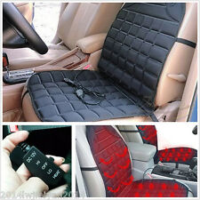 Car Cigarette Lighter Plug Heated Seat Cushion Hot Cover Heater Warmer Pad Black