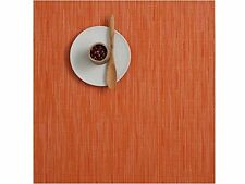"""* Free Shipping * Chilewich Bamboo Square Placemat Mandarin 13"""" X 14"""" Set of  4"""