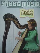 SHEET MUSIC MAGAZINE MARCH 1985 AMERICA'S IRISH MUSIC THE STORY CHAUNCEY TENOR