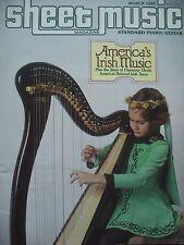 SHEET MUSIC MAGAZINE MARCH 1985 AMERICA'S IRISH MUSIC THE STORY CHAUNCEY TENOR