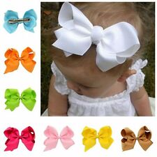 """20 Pcs 6"""" Baby Girls Huge Grosgrain Ribbon Boutique Hair Bows For Girls Toddlers"""