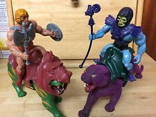 MOTU 1981 Vintage He-Man & Skeletor Nr Complete Panthor Battle Cat