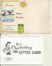 SURFERS PARADISE QLD CHATTERBOX LETTER CARD & ADVERTISING ENVELOPE not POSTCARD